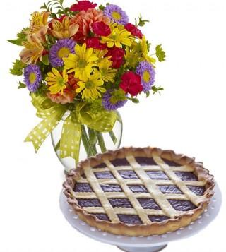 consegna-torta-crostata-alla-nutella-e-fiori-misti