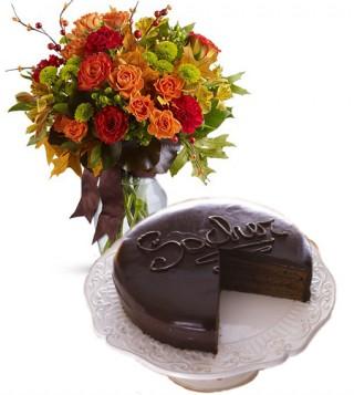 consegna-torta-sacher-con-fiori-autunno