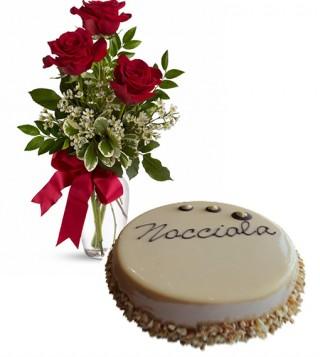 cosegna-torta-torta-alla-nocciola-con--tre-rose-rosse
