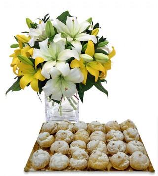 bigne-alla-crema-con-bouquet-di-gigli