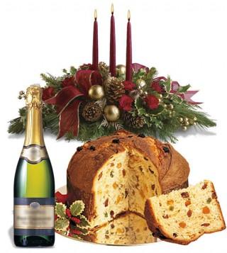 centrotavola-natalizio-panettone-spumante
