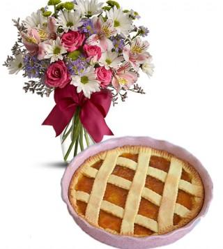 consegna-torta-crostata-con-fiori-misti