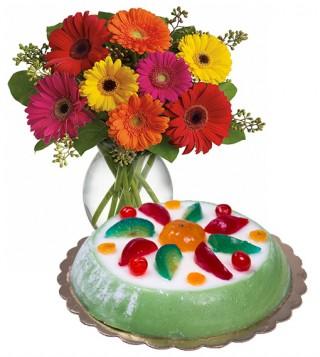 consegna-torta-cassata-siciliana-e-gerbere
