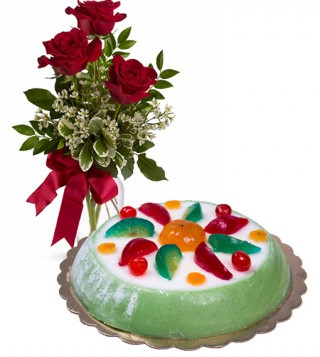 consegna-torta-cassata-siciliana-e-rose-rosse