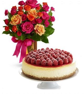 consegna-torta-cheecake-e-roselline