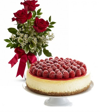 consegna-torta-cheesecake-e-rose-rosse