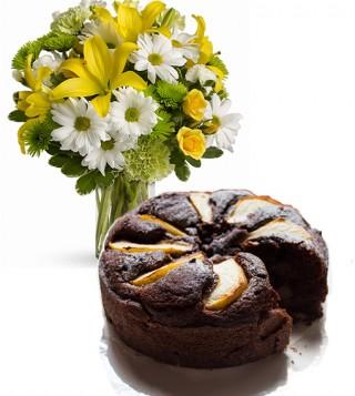 consegna-torta-cioccolato-e-pere-e-gigli