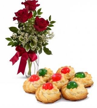 consegna-torta-dolcetti-di-mandorle-e-rose-rosse
