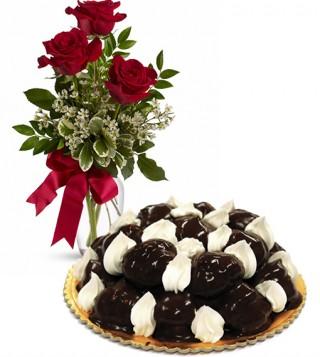 consegna-torta-profiterole-e-rose-rosse