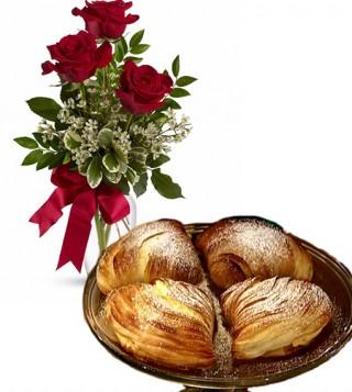 consegna-torta-sfogliatelle-e-rose-rosse