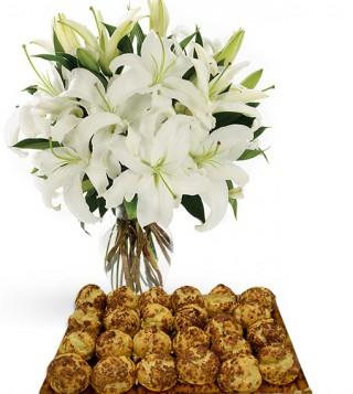 bigne-al-caffe-con-bouquet-di-gigli