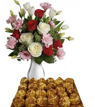 bigne-al-caffe-con-bouquet-di-roselline