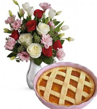 crostata-alla-marmellata-con-bouquet-di-roselline