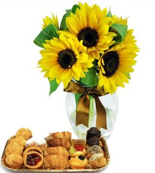 dolcetti-con-bouquet-di-girasoli