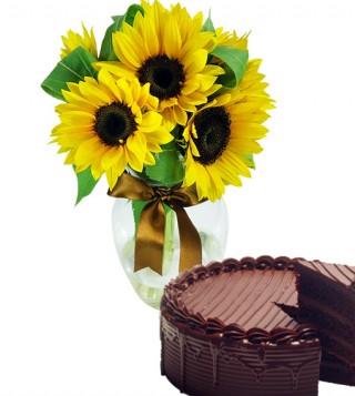 girasoli-con-torta-al-cioccolato
