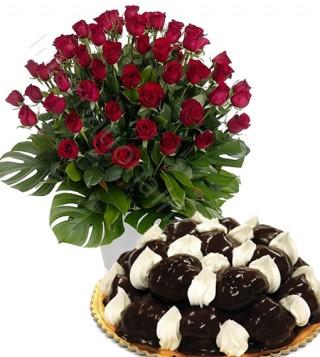 profiterole-con-bouquet-di-50-rose-rosse