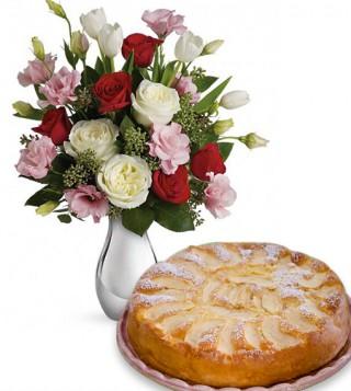 torta-di-mele-con-bouquet-di-sorelline