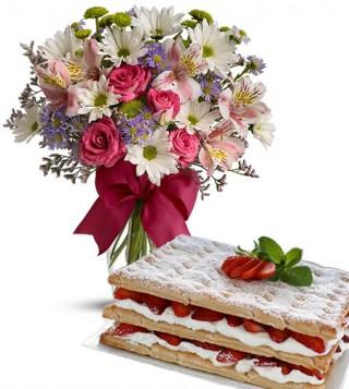 torta-millefoglie-con-bouquet-beautiful